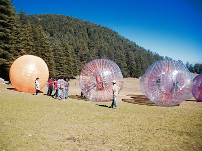 Zorbing at Khajjiar lake