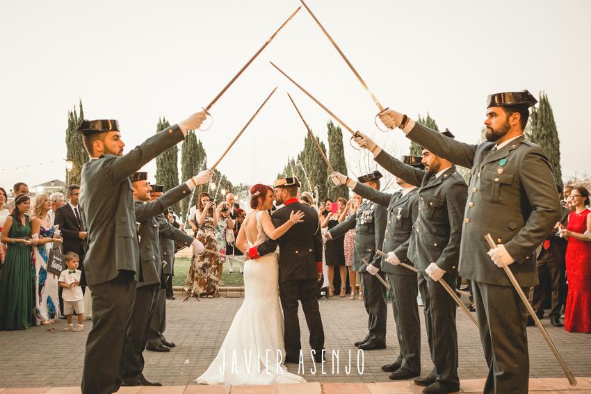 pase de sables guardia civil boda