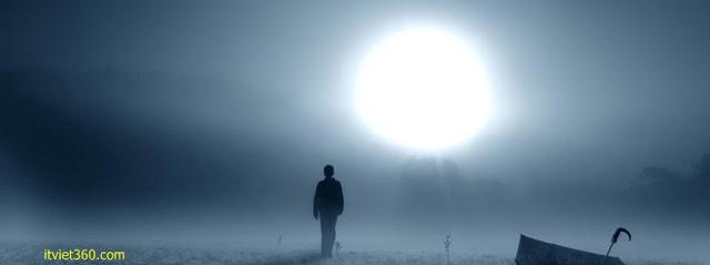 Ảnh bìa Facebook cô đơn, buồn - Alone Cover timeline FB, lặng lẽ những bước chân buồn tủi