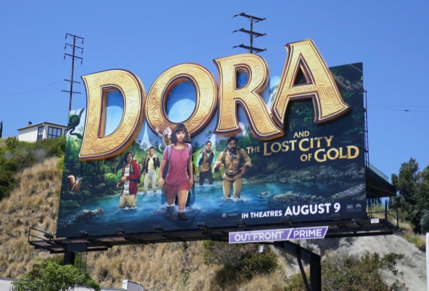 Dora and Lost City of Gold 3D logo billboard
