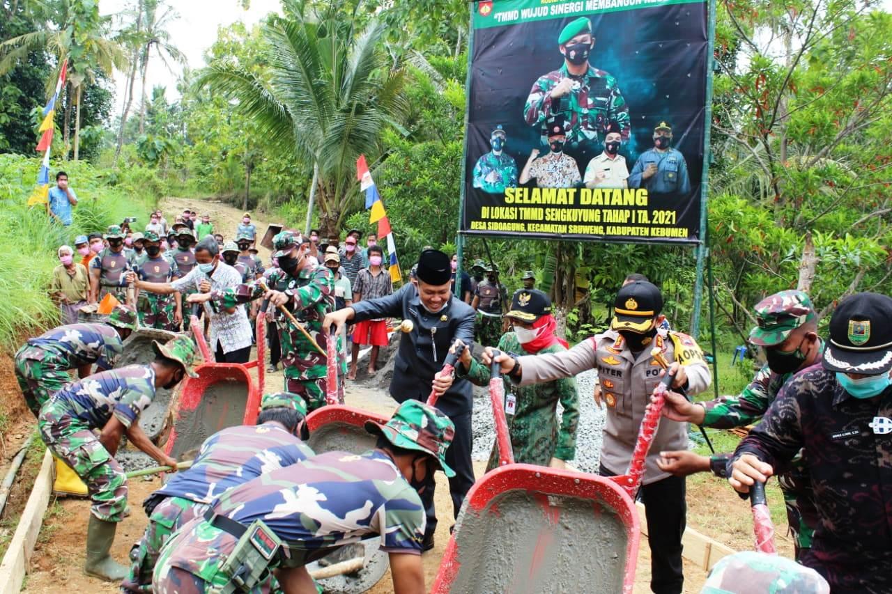 TMMD Pertama di 2021, Jalan Sepanjang 971 Meter Bakal Dibangun di Desa Sidoagung