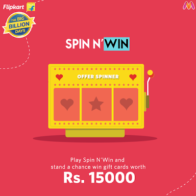 Spin & Win Gift Card Worth Rs.15,000 or Grand prizes from Myntra ...