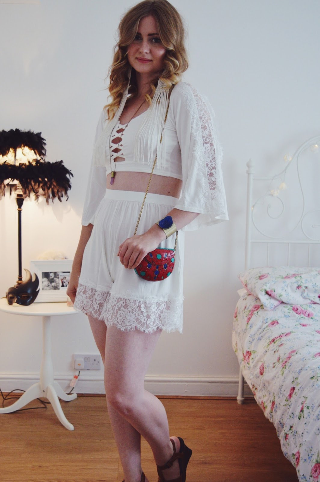 White Lace Two Piece from Boohoo.com, FashionFake, Fashion bloggers