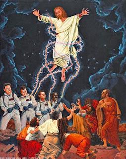 Lustiges Bild Ghostbusters fangen Jesus Christus nach Auferstehung von den Toten