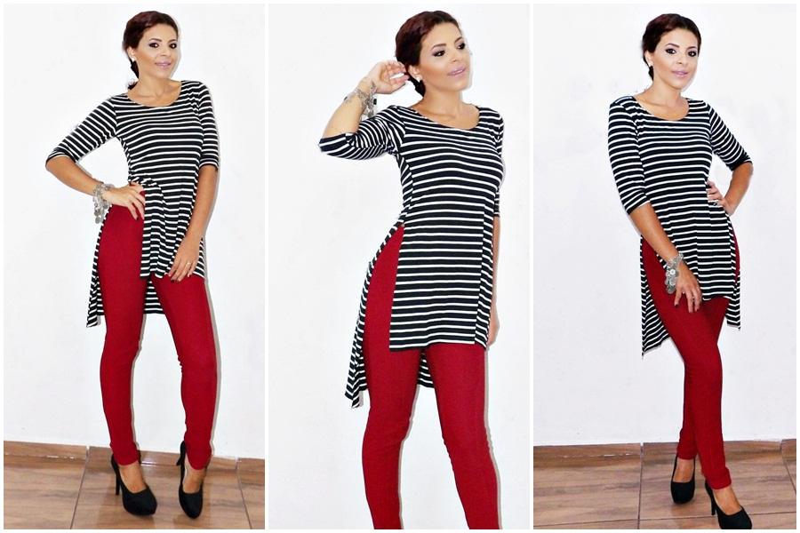 look do dia- Outfit- moda- fashion- listras- look com roupa listrada- mini veste listrada- moda feminina-look com listras- blog- todamenina blog