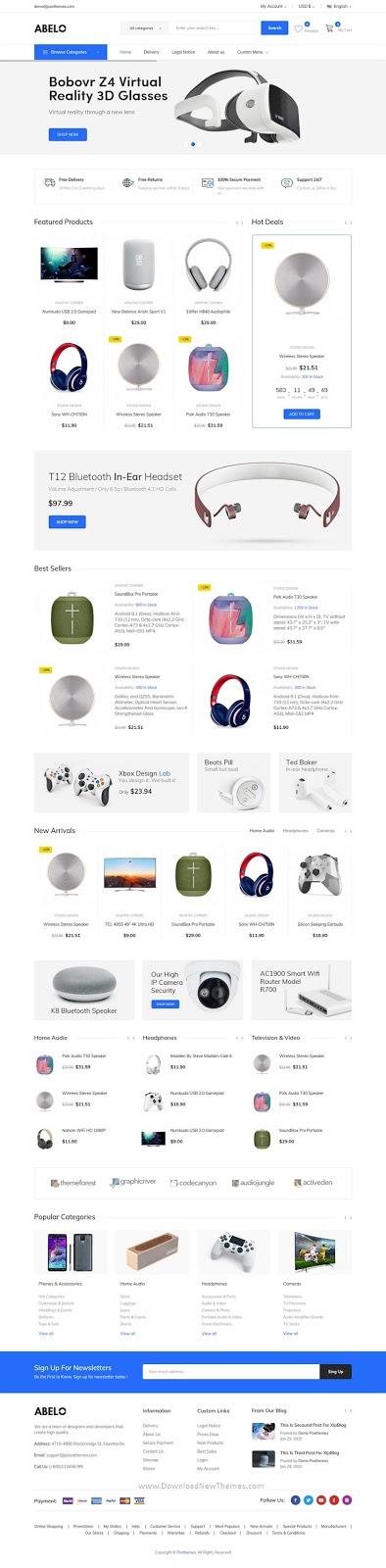 Responsive Prestshop Theme for digital stores