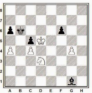 Posición de la partida de ajedrez Delchev - Handouchi (Innsbruk, 1987)