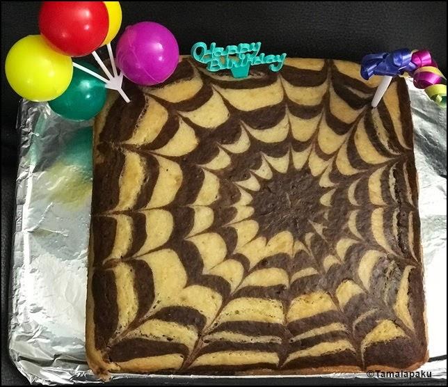 Surprising Tamalapaku Eggless Zebra Cake With Yogurt Funny Birthday Cards Online Sheoxdamsfinfo