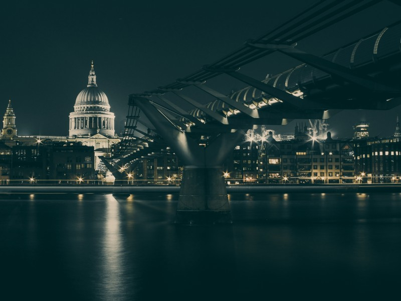 Download Footbridge on Thames HD wallpaper. Click Visit page Button for More Images.