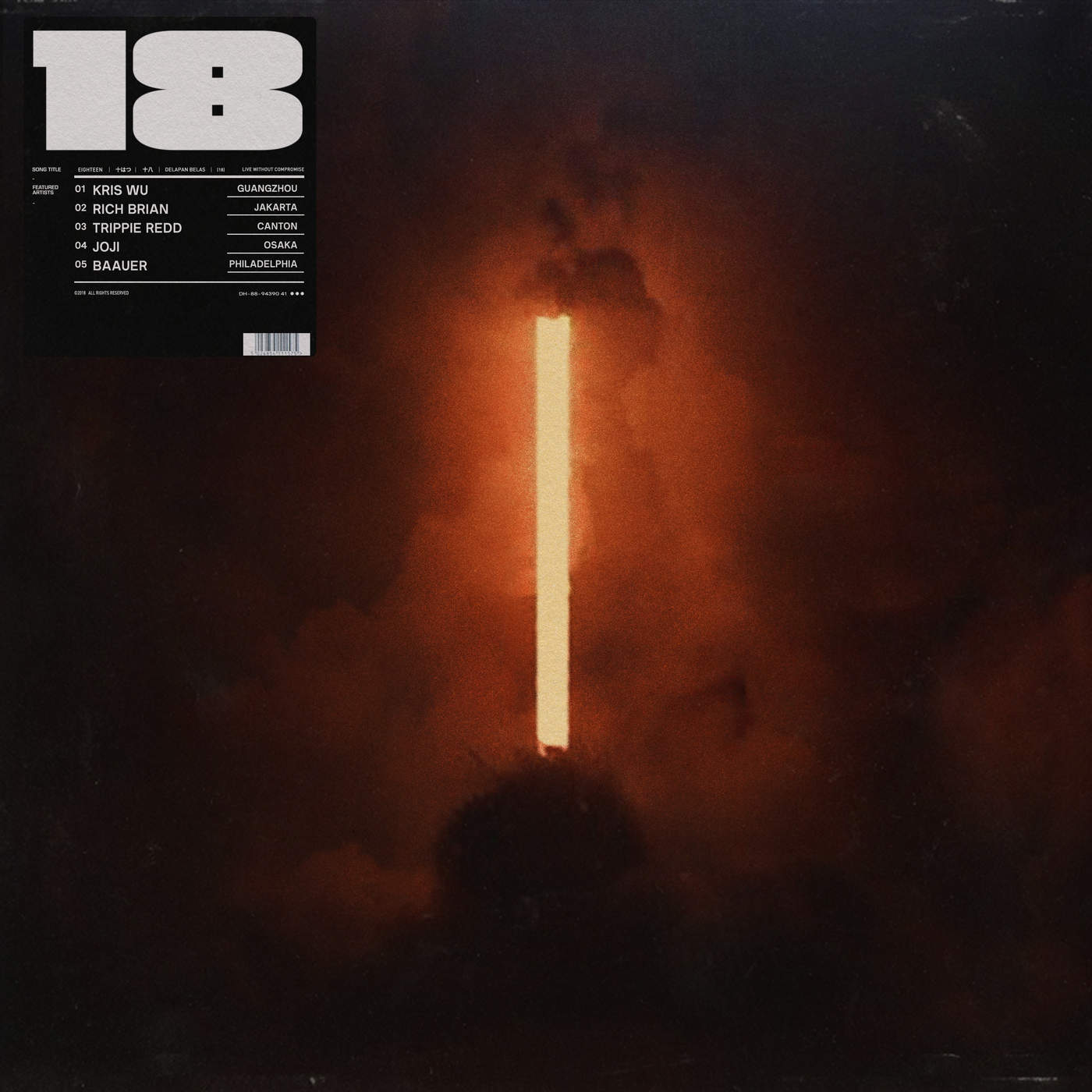 Rich Brian - 18 - Single Cover