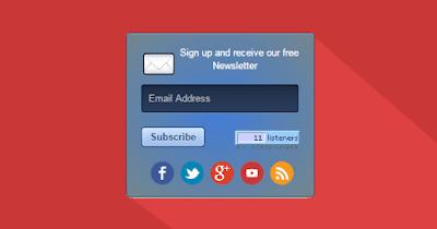 ব্লগারের জন্য একটি আকর্ষণীয় Email Subscription Form উইজেট