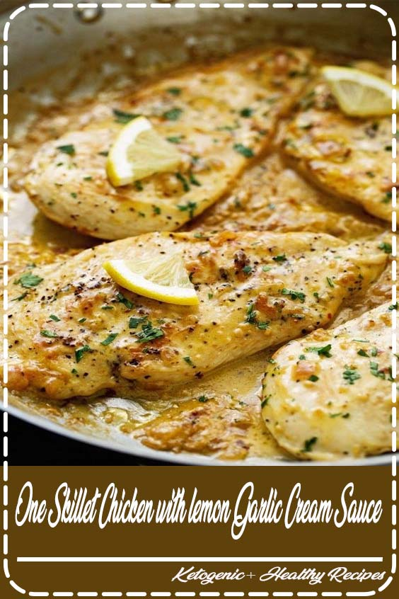 Say hello to your new favorite one skillet chicken dinner that One Skillet Chicken with lemon Garlic Cream Sauce