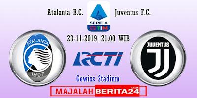 Prediksi Atalanta vs Juventus — 23 November 2019