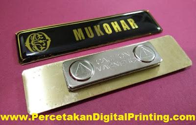 Contoh Desain Dari NAME TAG Percetakan Digital Printing Terdekat