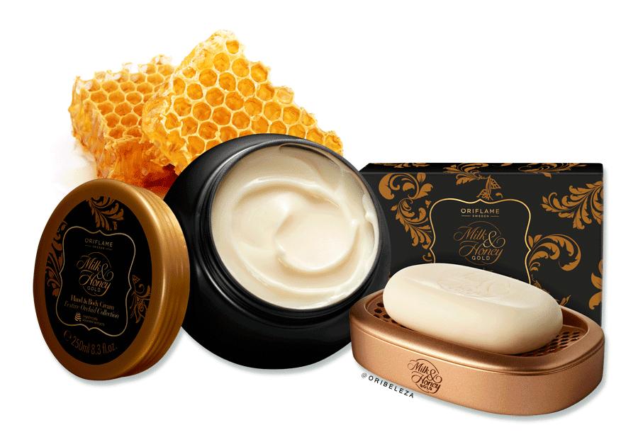 Conjunto Milk & Honey Gold da Oriflame