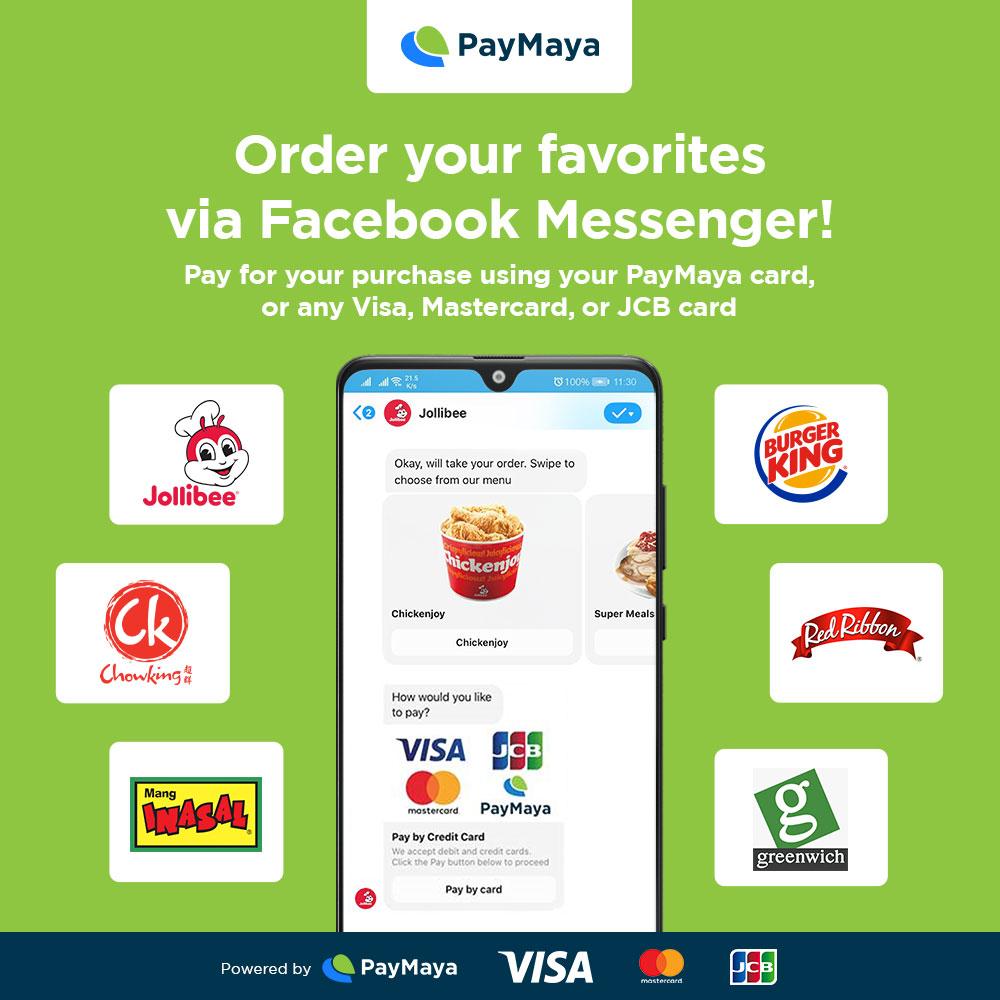 order via messenger and paymaya