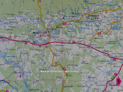Układ linii kolejowych w rejonie stacji Międzychód