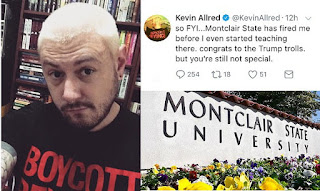 Ex-Rutgers professor is FIRED by Montclair before he can take up his new post after tweeting his wish for Trump to be assassinated
