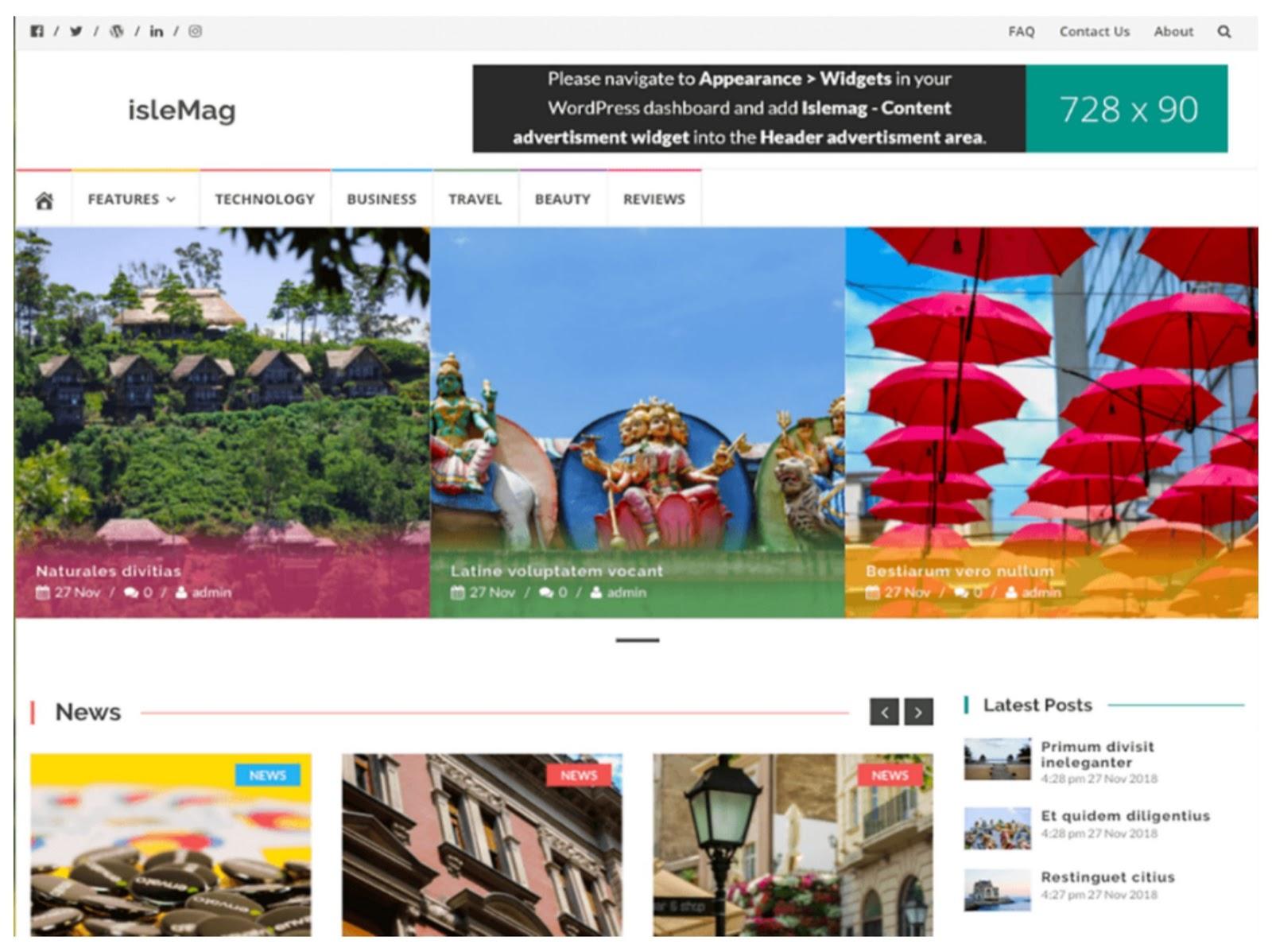 Islemag WordPress Theme