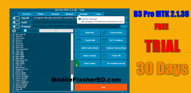 Download (30 Days Free) R3 Pro MTK V2.1.38 Latest Update Tool Free For All Without Password