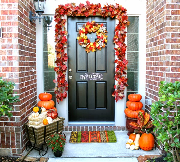 Life and love fall front porch decoration ideas - Fall front porch ideas ...