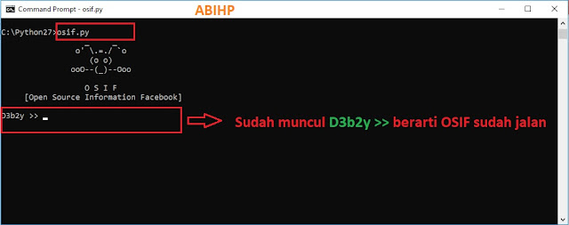 Selanjutnya setelah muncul D3b2y menandakan OSIF sudah bisa dijalankan.