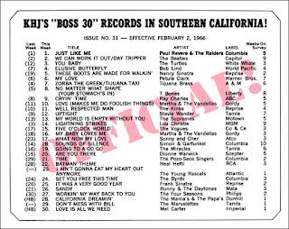 KHJ Boss 30 No. 31 - February 2, 1966