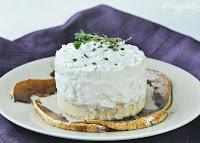 Tarta de gorgonzola con peras al balsámico