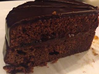 Presentación tarta Sacher