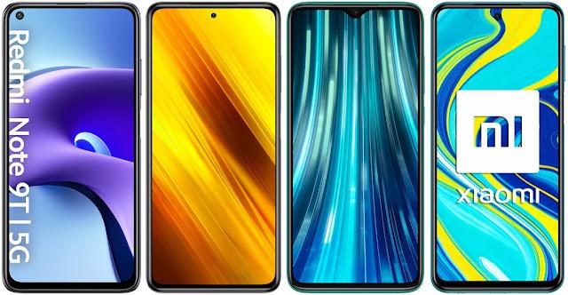 Xiaomi Redmi Note 9T 5G vs Xiaomi POCO X3 vs Xiaomi Redmi Note 8 Pro vs Xiaomi Redmi Note 9S