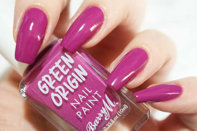 Barry M Green Origin collection swatches Boysenberry