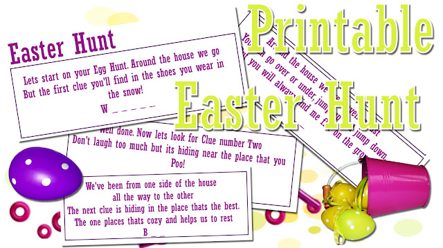 at home craft Easy Easter hunt for children to print