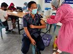 ASN dan Non-ASN di Lingkungan Setda Pessel Ikuti Vaksinasi Covid-19
