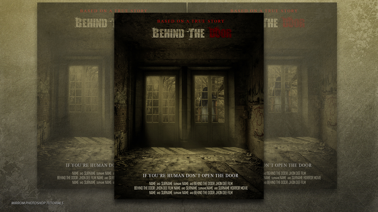 Create a Behind The Door Horror Movie Poster In Photoshop