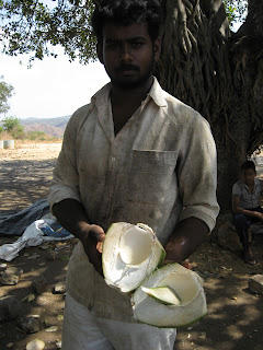 Coconut seller at Shivanasamudra falls