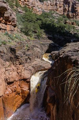 waterfall AZ whitewater kayaking red rocks WhereIsBaer.com Chris Baer