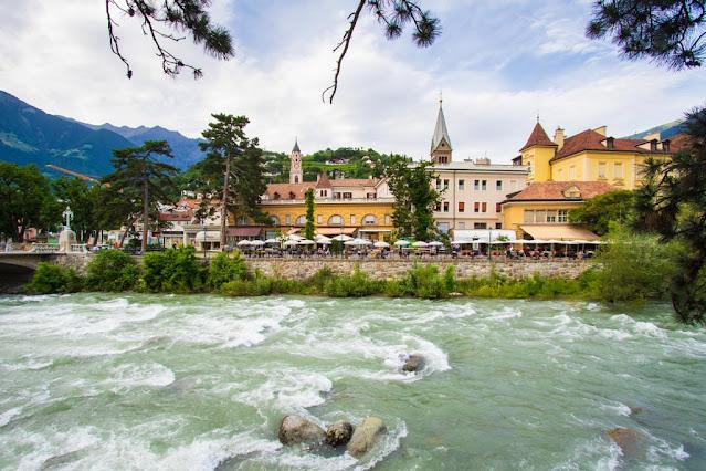 Merano e fiume Passirio