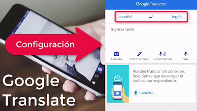 configuracion de google translate