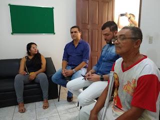Marcos Diogo se reúne com bispo diocesano e membros da FCD Guarabira