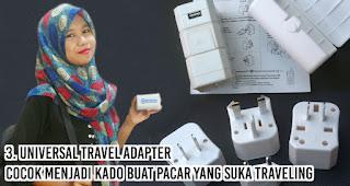 Universal Travel Adapter cocok menjadi kado buat Pacar Yang suka traveling
