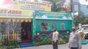 Dirikan Pos Pam Lebaran 2021, Kapolsek Medan Kota : Tetap Himbau Warga Jangan Mudik