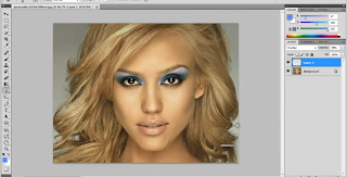 Photoshop cs5 digital make up tutorial banner and icon.