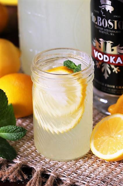 Glass of Homemade Hard Lemonade Image