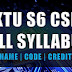 S6 Full Syllabus Computer Science and Engineering [CSE S6]