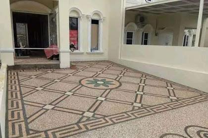 Jasa lantai carport pontianak, jasa lantai batu sikat pontianak, tukang lantai carport, batu sikat, batu coral, ampyangan, batu alam