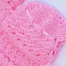 Ajuar Rosa a Crochet