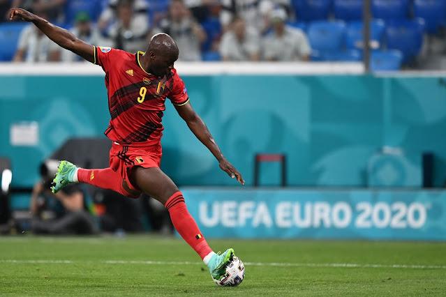 Belgium forward Romelu Lukaku - Euro 2020