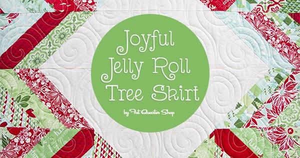 Joyful Jelly Roll Tree Skirt Pattern By Fat Quarter Shop