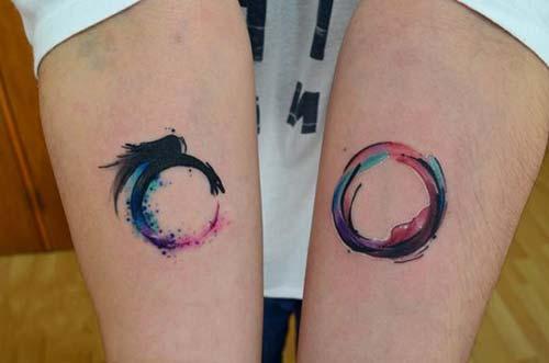 watercolor dragon tattoo on forearm renkli ejderha dövmesi bilek