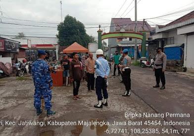 Mempersempit Penyebaran Covid-19, Gabungan Ops Yustisi Polsek Jatiwangi Sasar Pengunjung Pasar Mekarsari